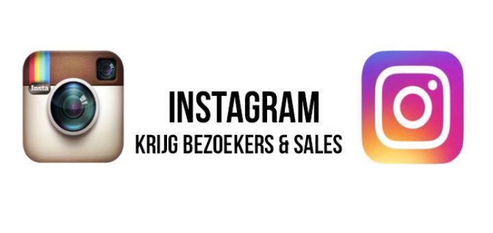Instagram krijg bezoeker & sales